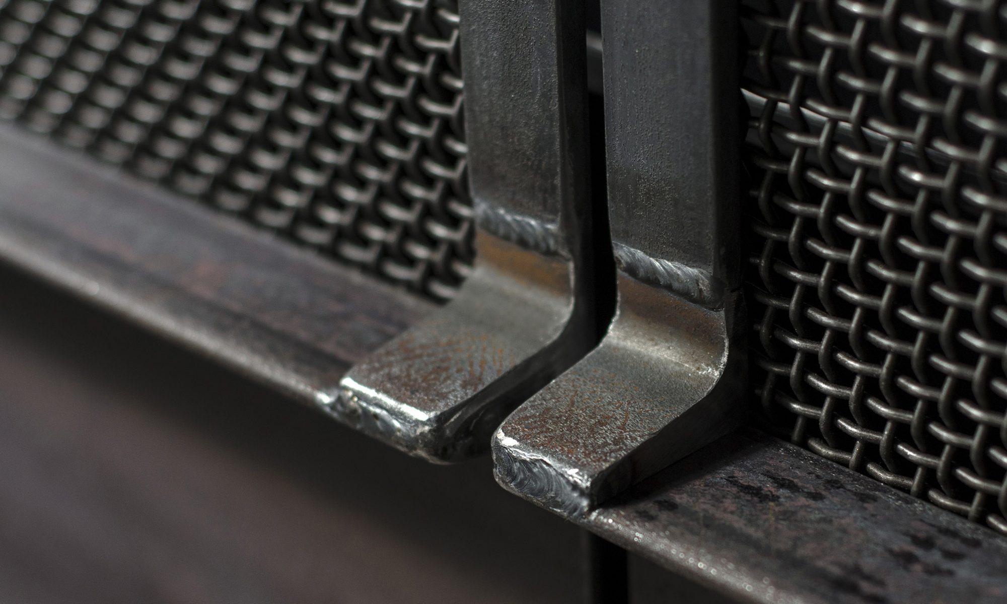 Close-up of Hauberk mesh door