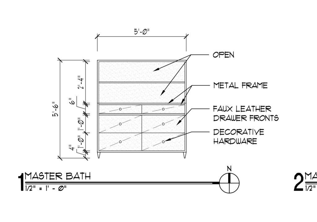 Master bath cabinet elevation